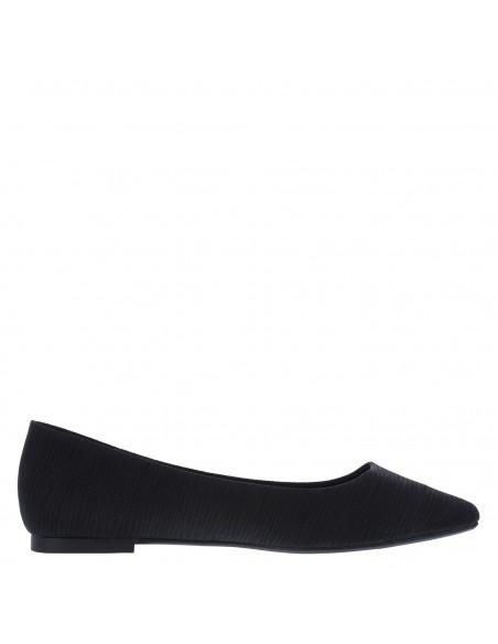 Zapatos planos de punta Gigi para mujer - Negro