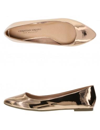 Zapatos planos de punta Gigi para mujer - oro