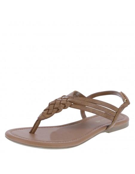 Sandalias planas tejidas Paprika para niña - Tan