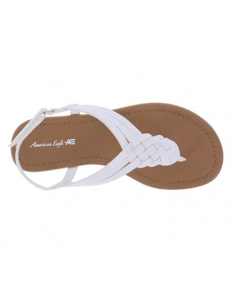 Sandalias planas tejidas Paprika para niña - Blanco