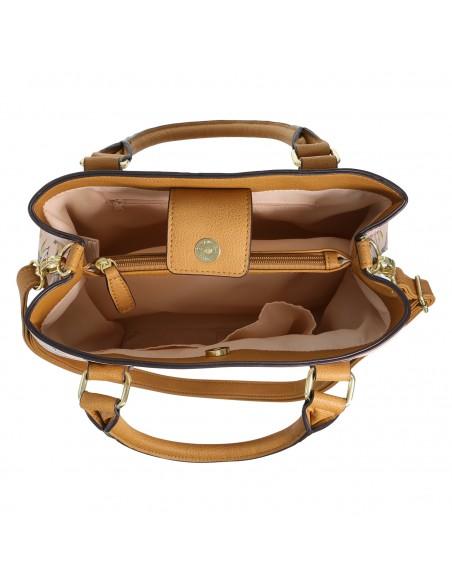 Bolso de mano Leisa para mujer - Cognac