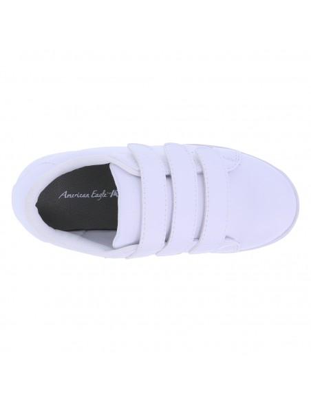 Zapatos de triple correa para niño pequeño - Blanco